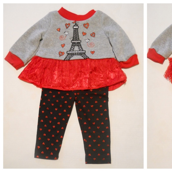 24M NEW W//T SWIGGLES GIRLS 2 PC PANT OUTFIT  12M